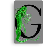 G is for Ghoul Watercolor Painting Canvas Print