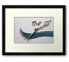 Cutting Hair Framed Print