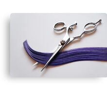 Cutting Hair Canvas Print