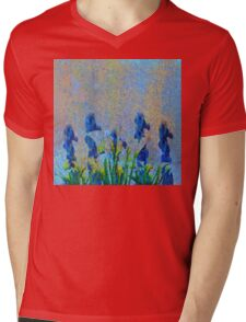 ORCHIDS AND LILIES Mens V-Neck T-Shirt