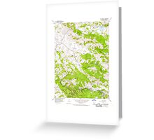 USGS TOPO Map California CA San Geronimo 300078 1954 24000 geo Greeting Card