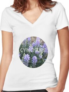 Cynosure: A Focal Point of Admiration Flower Photography Women's Fitted V-Neck T-Shirt
