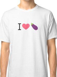 I Love Eggplant - by EmojiDaddy Classic T-Shirt