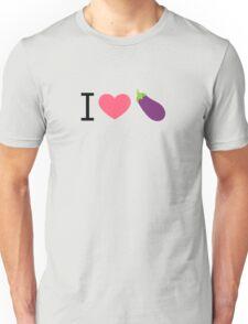 I Love Eggplant - by EmojiDaddy Unisex T-Shirt