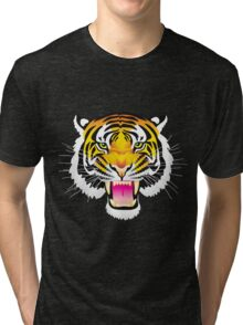 Angry Tiger Tri-blend T-Shirt