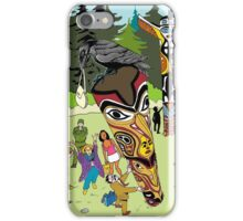 Thieving Raven on a Totem Pole iPhone Case/Skin