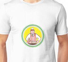 Butcher Chopping Ham Rosette Cartoon Unisex T-Shirt