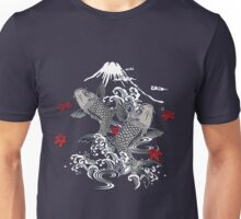 Japanese Koi Graphic Design Unisex T-Shirt