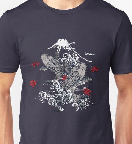 Japanese Koi Graphic Design Unisex T-Shirt
