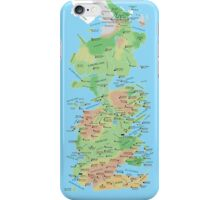 Westeros Locations Map iPhone Case/Skin