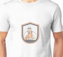 Butcher Chopping Ham Shield Cartoon Unisex T-Shirt