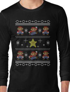 Mario Christmas Sweater Long Sleeve T-Shirt