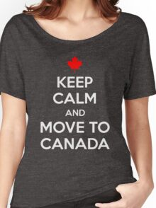 Keep Calm and Move to Canada T-Shirt Women's Relaxed Fit T-Shirt