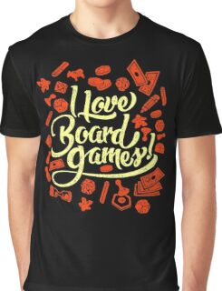 I Love Board Games Graphic T-Shirt