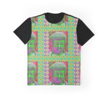 Buddha Pop in Violet and Green Graphic T-Shirt