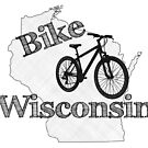 Bike Wisconsin State by surgedesigns