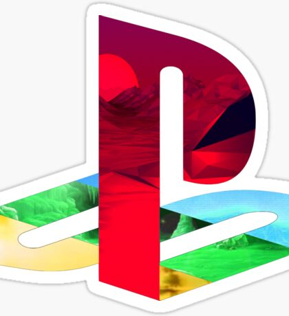 Playstation Logo Vaporwave Sticker