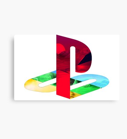 Playstation Logo Vaporwave Canvas Print