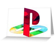 Playstation Logo Vaporwave Greeting Card