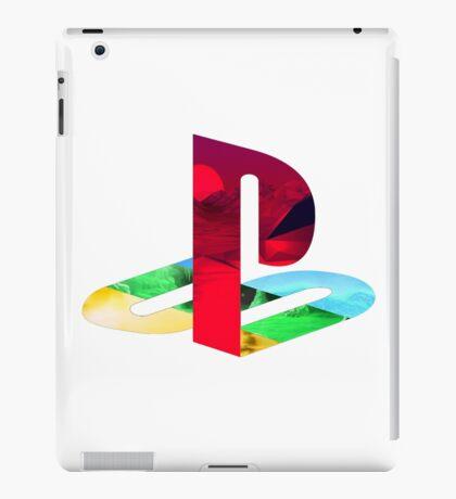 Playstation Logo Vaporwave iPad Case/Skin