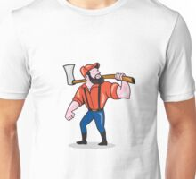 LumberJack Holding Axe Cartoon Unisex T-Shirt