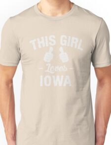 This Girl Loves Iowa T-Shirt Unisex T-Shirt
