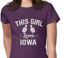 This Girl Loves Iowa T-Shirt Womens Fitted T-Shirt