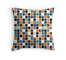 Colorful cubes .  Throw Pillow