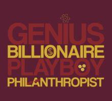 Genius, Billionaire, Playboy, Philanthropist by KitsuneDesigns