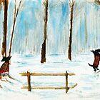 Scottie Dogs The Four Seasons 'Winter' by archyscottie