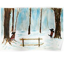 Scottie Dogs The Four Seasons 'Winter' Poster