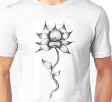 Flowering Lotus Flower Unisex T-Shirt