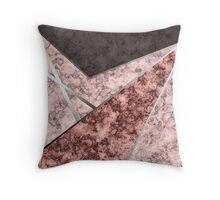 Combined marble pattern .  Throw Pillow