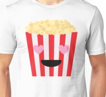 Emoji Popcorn Heart and Love Eyes Unisex T-Shirt