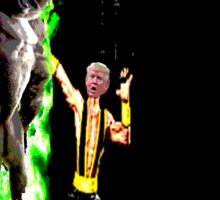 Harambe vs Trump Mortal Kombat Sticker