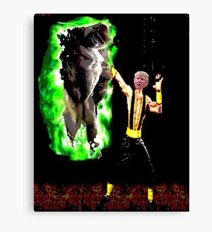 harambe vs trump in mortal kombat Canvas Print