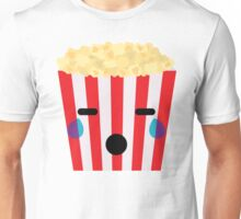 Emoji Popcorn Teary Eyes and Sad Look Unisex T-Shirt
