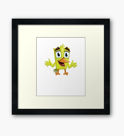 Funny Lovely Vector Graphic Birds For Birds Animal Lovers Framed Print