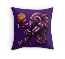 Super Metroid Pink Chozo Throw Pillow