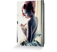 Scarlett Johansson - Film Grain Greeting Card