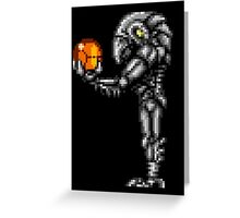 Chozo Holding Samus T-shirt - Standing Version Greeting Card