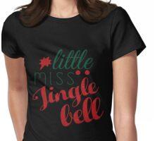 Little Miss Jingle Bells Womens Fitted T-Shirt