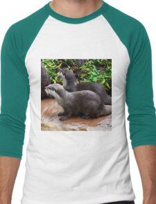 Otter Hand It To You Men's Baseball ¾ T-Shirt