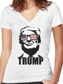 trump Women's Fitted V-Neck T-Shirt