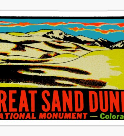 Great Sand Dunes Colorado Vintage Travel Decal Sticker