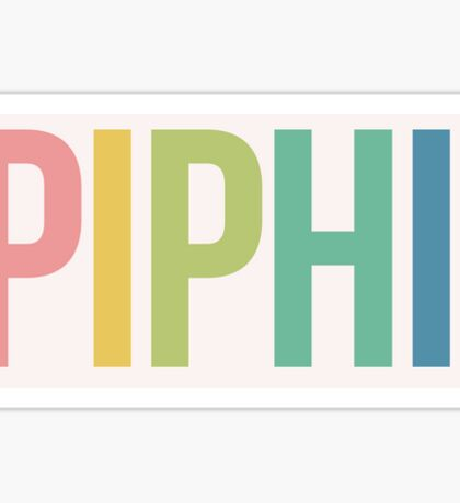 Pi Phi Rainbow Sticker