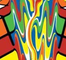 Rubiks Cube Puzzle Magic Melting Rubix Cube Sticker