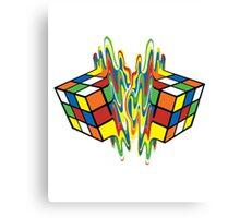Rubiks Cube Puzzle Magic Melting Rubix Cube Canvas Print