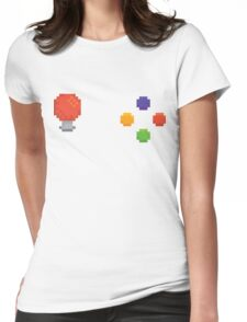Pixel arcade machine controls Womens Fitted T-Shirt