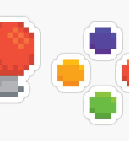 Pixel arcade machine controls Sticker